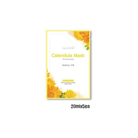 [SanDaWha] Calendula Mask 5,10EA Soothing Mask Pack K-beauty - BEST BEAUTIP