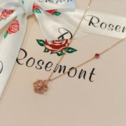 [ROSEMONT] 14K Rose Necklace RS0692 with Case K-DRAMA tvN PARK MINYOUNG - BEST BEAUTIP
