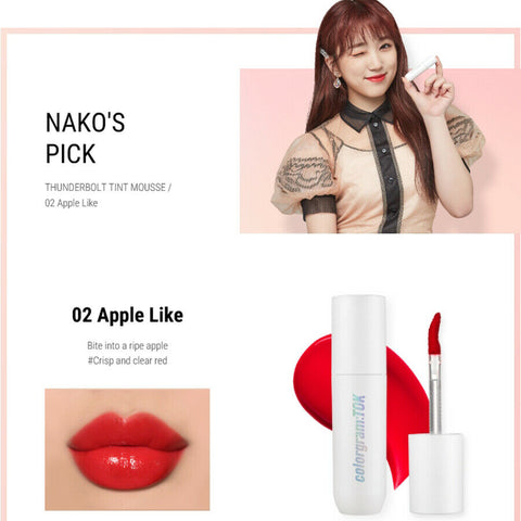[colorgramTOK] Thunderbolt Tint Mousse Colorgram TOK K-beauty IZ*ONE Lip - BEST BEAUTIP