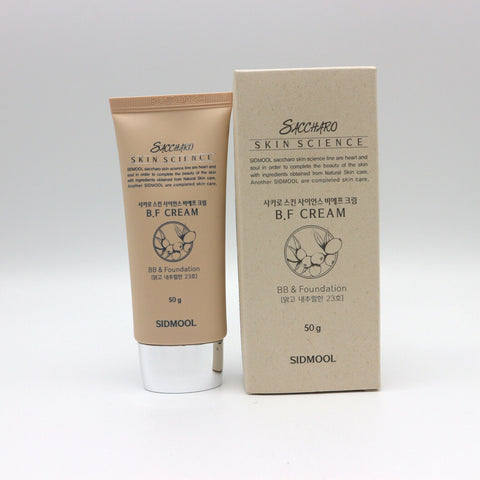 [Sidmool] Saccharo Skin Science B.F (BB+Foundation) Cream 50g / 1.76oz K-beauty - BEST BEAUTIP