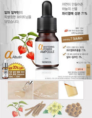 twinkidea - [Sidmool] Alpha Whitening Power Ampoule 12ml / 0.4oz for Brightening k-beauty - Sidmool - Ampoules