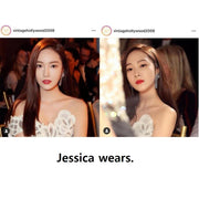 [VINTAGE HOLLYWOOD] Glam Nox Earrings K-star JESSICA Wears - BEST BEAUTIP