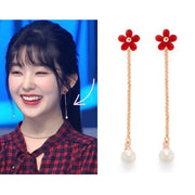 [RITA MONICA] Cherry Blossom Pearl Drop Earrings RBS1-FRE02 with Box packing irene - BEST BEAUTIP