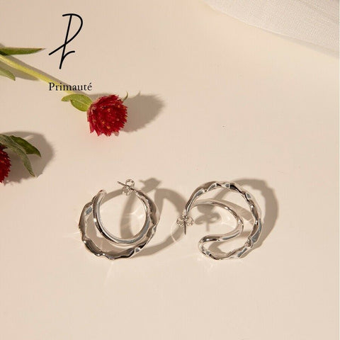 [PRIMAUTE] Infinity Ring Earring K-drama tvN 'Please enter your search term.WWW' - BEST BEAUTIP
