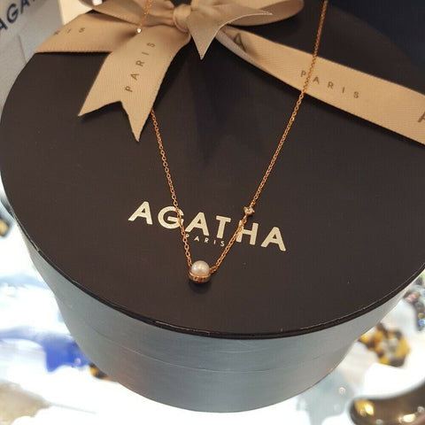 [AGATHA] Rond 14K Gold Onyx Necklace 2681737S_292 With Case K-beauty - BEST BEAUTIP