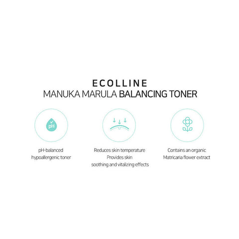 [ECOLLINE] Manuka Marula Balancing Toner 300ml / 10.14oz K-beauty - BEST BEAUTIP