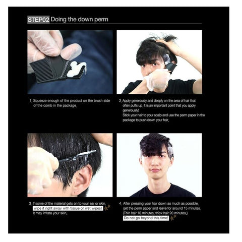 [Black Monster] Down Perm Men's Self Styling Side Hair Down Perm 120ml/4.05oz - BEST BEAUTIP