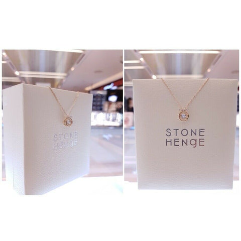 [STONE HENGE] 14K Dancing Stone Stella Necklace D0004 with case K-beauty - BEST BEAUTIP