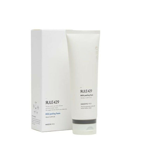 [HAZZYS MEN RULE429] Mild Peeling Foam 150ml/5oz Foam Cleanser For Men K-beauty - BEST BEAUTIP
