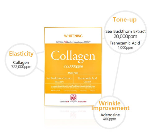 [Dermafix] Real Collagen Mask Pack 1 box (4ea) K-beauty - BEST BEAUTIP