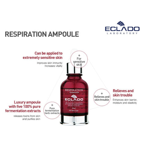 [ECLADO] Respiration Ampoule 30ml(1oz) Relieves and Skin Trouble K-beauty - BEST BEAUTIP