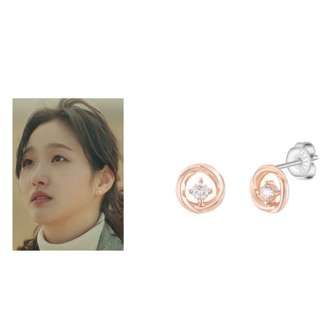 [J.ESTINA] J Basic Earrings Silver JJJBEQ0BS698SR000 K DRAMA THE KING - BEST BEAUTIP