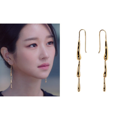 [MANI E PIEDI] Falling Rain Earring Silver 925 It's Okay to Not Be Okay Seo Ye-ji wearing - BEST BEAUTIP