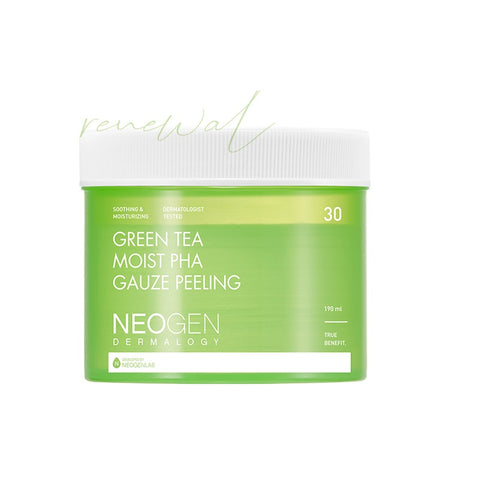 [NEOGEN] Green Tea Moist PHA Gauze Peeling Pad 190ml(30ea) K-beauty - BEST BEAUTIP