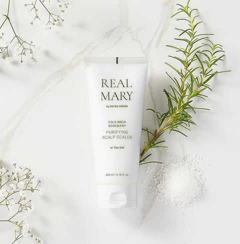 [RATED GREEN] Real Mary Cold Brew Rosemary Purifying Scalp Scaler 200ml / 6.76 Fl. Oz. - BEST BEAUTIP