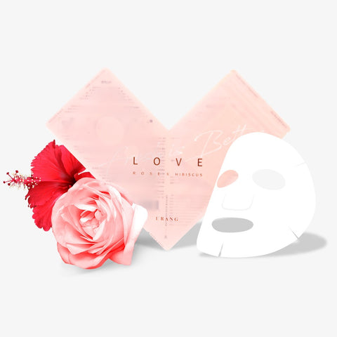 [URANG] Love Rose X Hibiscus Mask 5ea K-beauty - BEST BEAUTIP