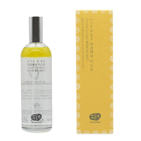 [WHAMISA] Organic Flower Refresh Mist 100ml / 3.38oz K-beauty - BEST BEAUTIP