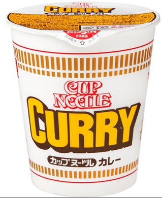 Nissin Noodle Cup Curry Flavor 日清咖哩杯麵