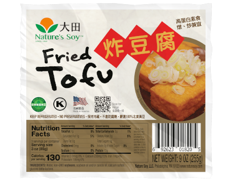 FRIED TOFU NATURE'S SOY