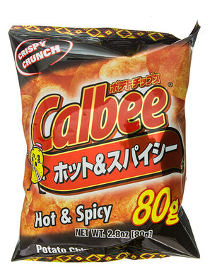 CALBEE POTATO CHIPS HOT SPICY