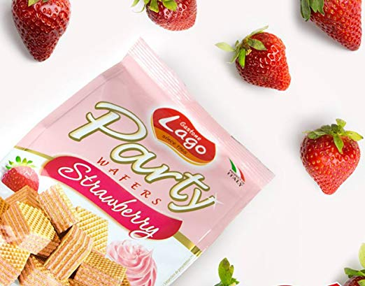 PARTY  WAFERS STRAWBERRY