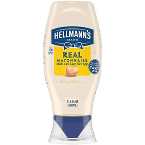 HELL MANNS REAL MAYONNAISE SQUEEZE 11.6OZ