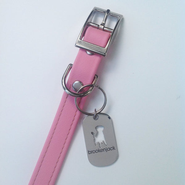 Luxury Biothane Waterproof Dog Collar - Pink