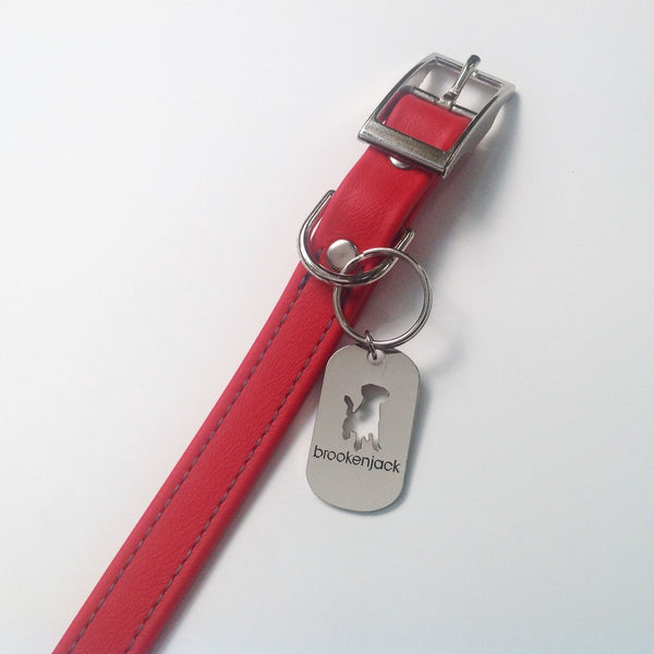 Luxury Biothane Waterproof Dog Collar - Red