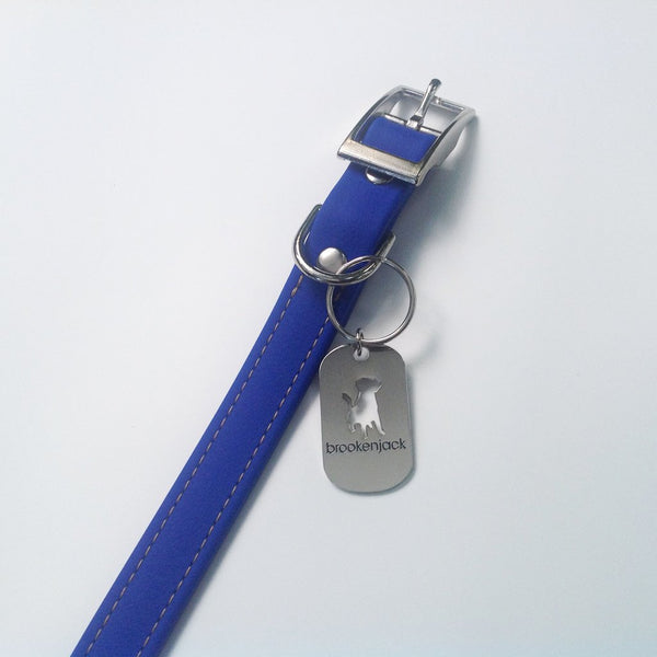 Luxury Biothane Waterproof Dog Collar - Blue