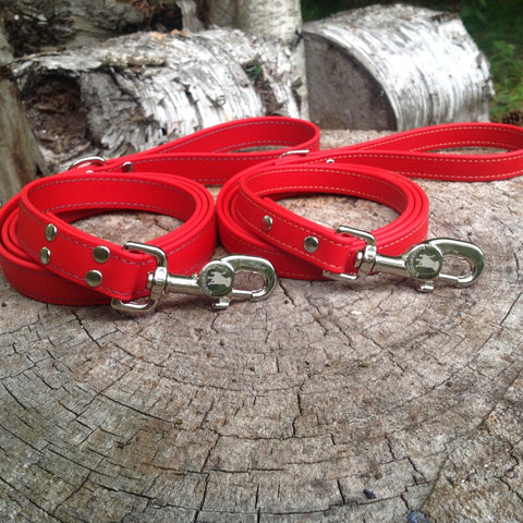 Luxury Waterproof Leash - Red
