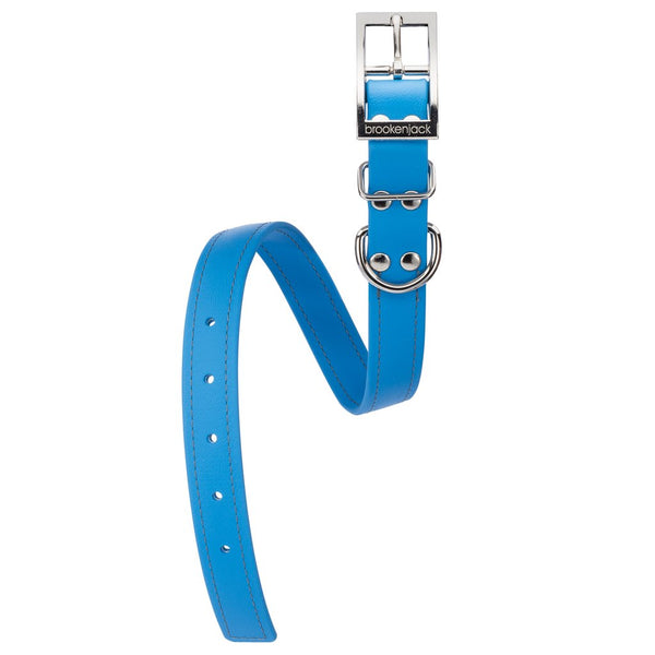 Luxury Biothane Waterproof Dog Collar - Electric Blue