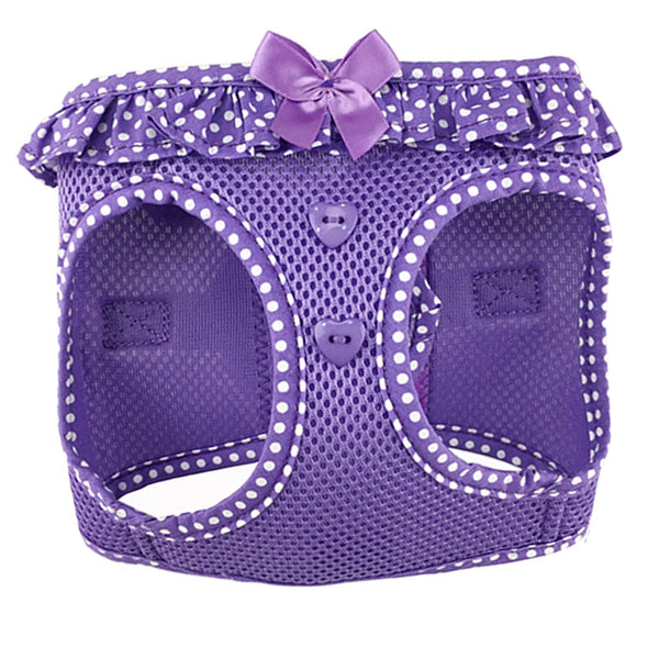 American River Choke Free Harness - Paisley Purple Polka Dot