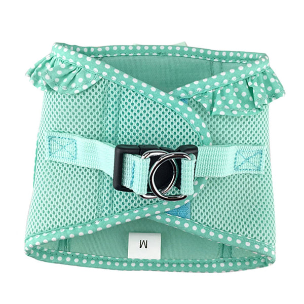 American River Choke Free Harness - Teal Polka Dot