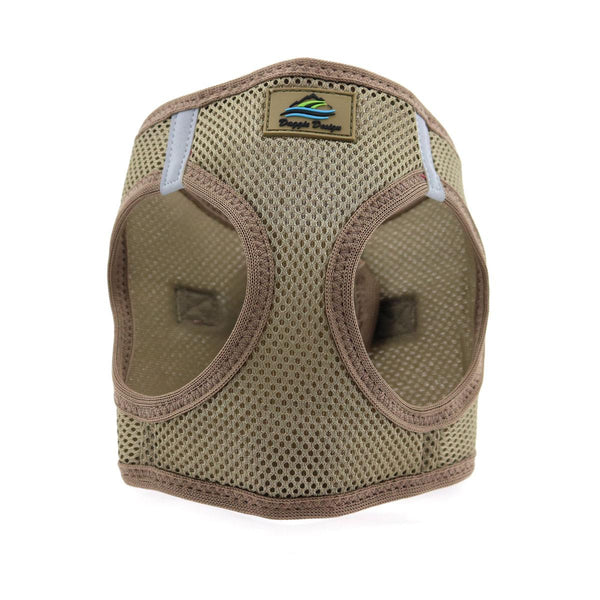 American River Solid Ultra Choke-Free Mesh Dog Harness - Fossil Brown