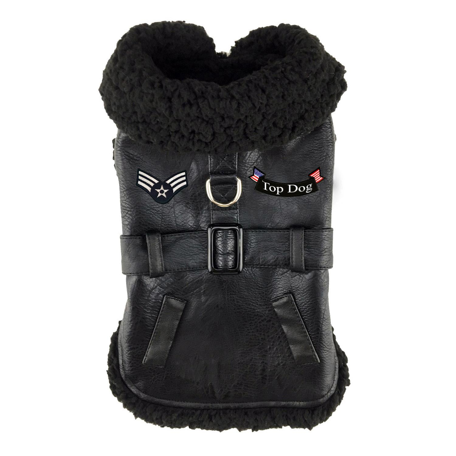 Black Top Dog Flight Coat