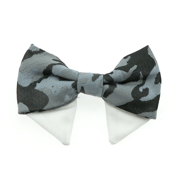 Universal Dog Bow Tie - Gray Camo