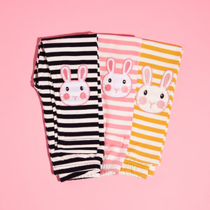 Striped Bunny Leggings