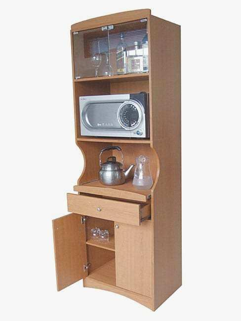 Country Tall Microwave Cabinet
