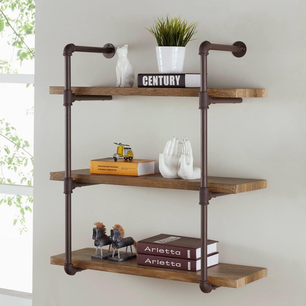 Gloriously Metal Pipe Shelves