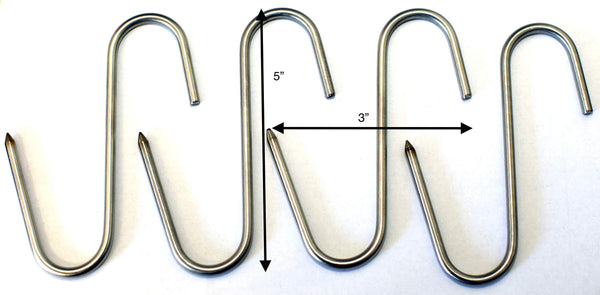 "Stainless Meat Hooks, Smoker Hook, 5"", 4 Pack"