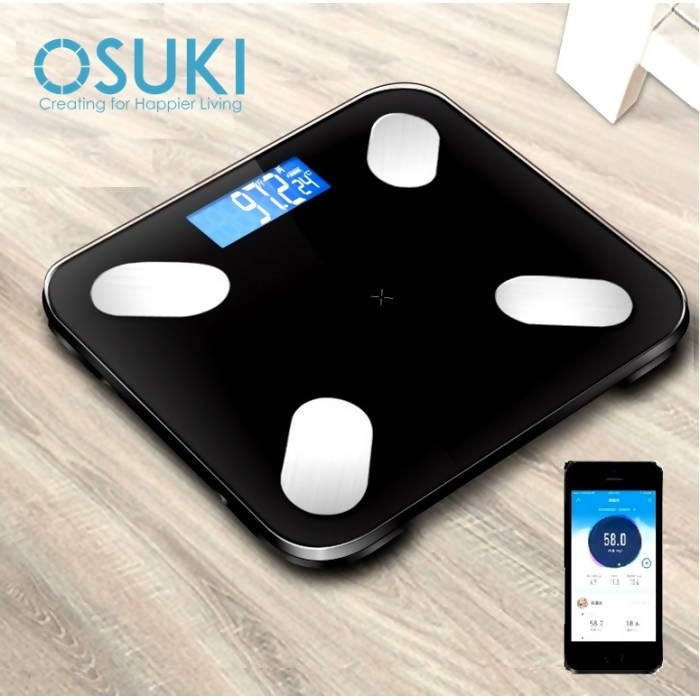 OSUKI - Weight Scale Digital Body Fat ANDROID/IOS (Free Battery)