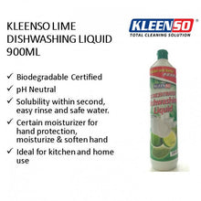 Load image into Gallery viewer, OSUKI - Kleenso Dishwash Liquid Lime 900ML