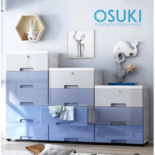 Load image into Gallery viewer, OSUKI - Drawer 5 Layer Storage Cabinet 45CM Wardrobe With Key Lock