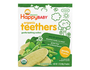 ECOPEAKS - Happy Baby Teething Wafer - Pea & Spinach (48g)