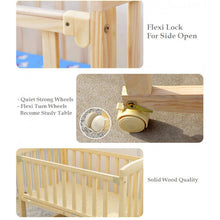 Load image into Gallery viewer, OSUKI - Cradle Baby Cot (FREE MOSQUITO NET & HOLDER) Wooden Rocking
