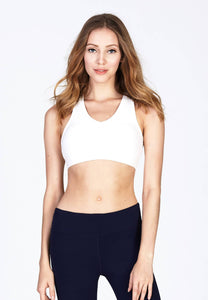 FUNFIT - Energy Cotton Sports Bra in White