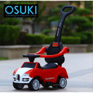 OSUKI - Children 3 IN 1 Walker Ride On Sport Car Music Set With Push Control Bar