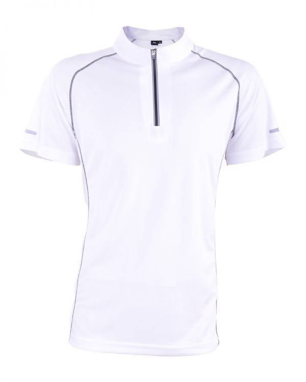 RIGHTWAY - Outréfit Reflective Design Zipper Snowy White
