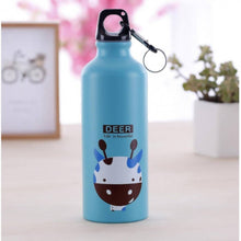 Load image into Gallery viewer, OSUKI - 500ML Colorful Cartoon Water Bottle (BLUE DEER)