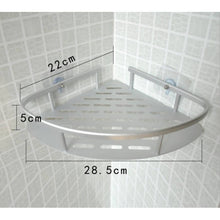 Load image into Gallery viewer, OSUKI - Bathroom Corner Shelf Adhesive Aluminium Rack